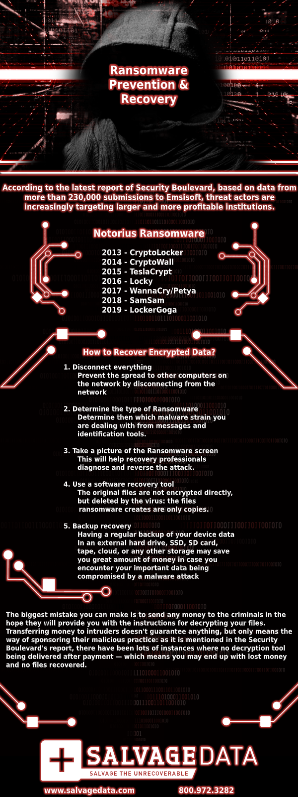 Ransomware Prevention and Recovery Infographic
