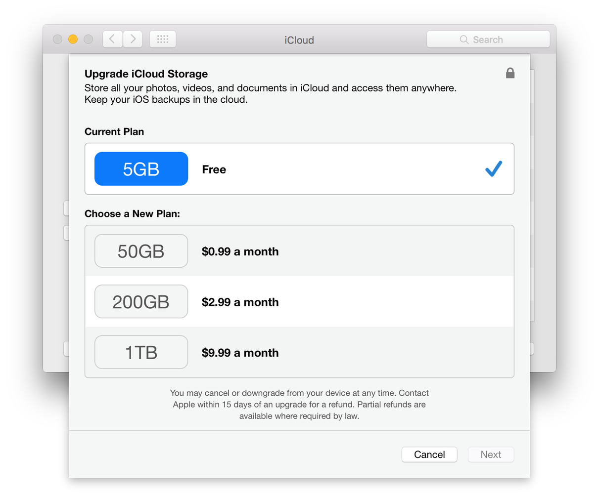 iCloud Plans - iPhone Recovery