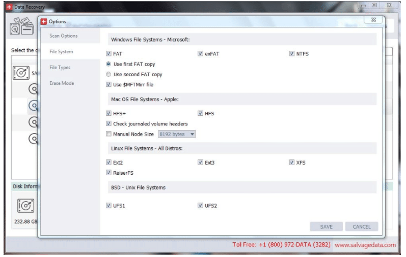 Windows File System Block in SDR Software