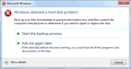 Error Message: How to Fix Windows Detected a Hard Disk Problem in 2020?